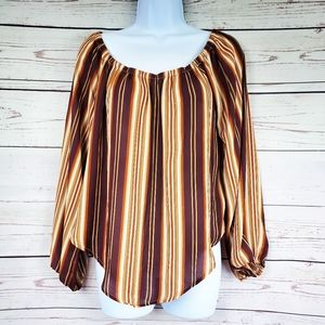 Forever 21 contemporary striped brown top size M
